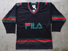 Vintage NEW 90s Fila Hockey Jersey Size 2XL XXL Hip Hop Rap Black Rare