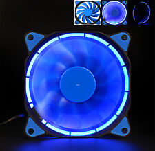 Quiet 120mm DC 12V3+4pin LED effects Clear Computer Case Fan For Radiator Mod F
