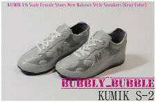 KUMIK 1/6 Female Shoes New Balance Style Gray Color Sneakers S-2 SHIP FROM USA