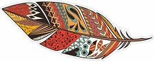 TRIBAL FEATHER FEATHERS INDIAN BOHO BOHEMIAN GYPSY DECAL STICKER STICKERS STY 3
