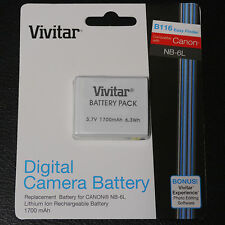 VIV NB-6L battery for Canon Powershot D10 D20 ELPH 500 HS N S90 S95 SD1200 IS