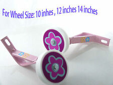 "Kids girl Bicycle Heavy Duty Training Wheels for 12"" Bike Children pink purple"