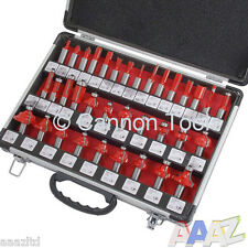 "35pc 1/2"" inch Router Bits in Aluminium Case Bit Woodworking Tool Set Tct"