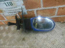 FIAT SEICENTO 1999 OS DRIVER SIDE MANUAL DOOR WING MIRROR BLUE