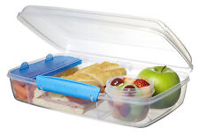 Sistema Klip It Bento Lunch Box to Go Blue Clip Multi Compartment Work School