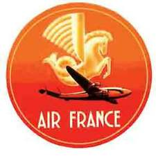 """Air France""  Airline Luggage Label   Vintage-1950's Style  Travel Sticker/Decal"