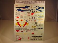 DECALS 1/43 PEUGEOT 306 MAXI RALLY PART 1 - CARPENA  43118