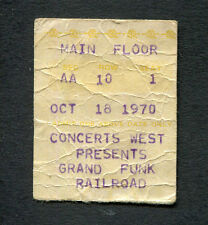 1970 Grand Funk Humble Pie concert ticket stub Memphis TN Closer To Home