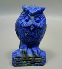 Owl Lapis Lazuli 2.25 inch Blue Gemstone Animal Carving Afghanistan #10