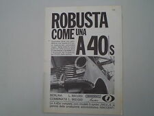 advertising Pubblicità 1965 INNOCENTI AUSTIN A40 A 40 S