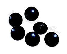 mercerie lot de 6 petits BOUTONS plastique noir 12mm button