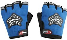 HALF KNIGHTHOOD FINGER RIDING GLOVES FOR ALL BIKES and scooty gloves...blue