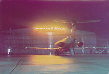 COURT LINE BAC 1-11 G-AXMG night image Luton Airport - 6 x 4 Print