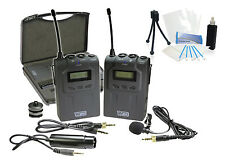 Professional UHF Wireless Microphone System w/ Lavalier for Canon HF G30 G10 S10