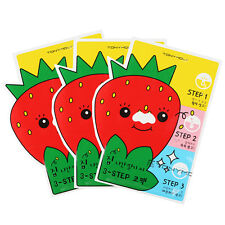 [Tony Moly] Mr. Strawberry Blackhead 3 Step Nose Mask
