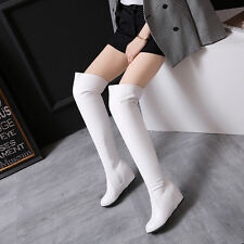 Over The Knee Boot High Wedge Heel Zipper Shoes Women Fashion Ladies US ALL Size