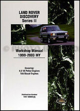 Land Rover Discovery Shop Manual Series II 1999 2000 2001 2002 2003 Repair