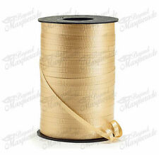 """3/16"""" 500 YDS (1500ft) Spool Balloons Wedding Crimped Curling Ribbon - Gold"""