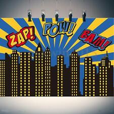 7x5FT City Building Superhero Backdrop Vinyl Photography Background Studio Props