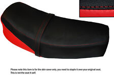 RED & BLACK CUSTOM FITS JAWA CZ 125 175 1976 DUAL LEATHER SEAT COVER ONLY