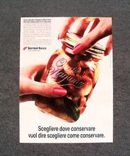 [GCG] L430- Advertising Pubblicità - BORMIOLI ROCCO , SCEGLIERE DOVE CONSERVARE