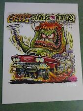 CHEVY POWERS WINNERS JOHNNY ACE ORIGINAL ART RAT FINK ED BIG DADDY ROTH HOT ROD