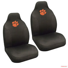 New NCAA Clemson Tigers Universal Fit Car Truck 2 Front Seat Covers Set