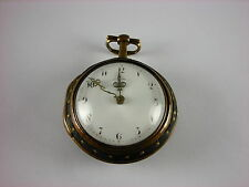 Very rare antique English Verge Fusee key wind pocket watch 1775. Runs great!