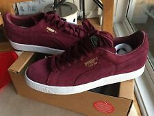 Puma Suede 9 Basket Burgundy Purple Red Gold Plum Zinfandel Pink White Clyde