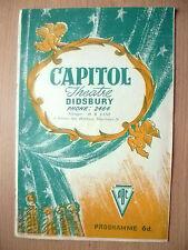 Capitol Theatre 1949-DARK MIRROR/SALUTE TO PETIPA/SUITE DE DANSES CLASSIQUES Etc