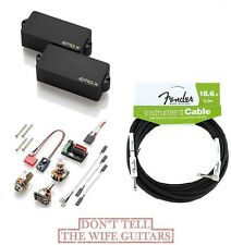EMG PAX BLACK P BASS ACTIVE FENDER REPLACEMENT PICKUP ( FREE FENDER 18FT CABLE)