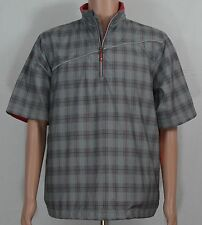 Sunice #1923 NEW Men Size Medium X20 Sport Short Sleeve Plaid Pullover Windshirt