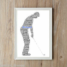 Golfer Personalised Word Art Golf A4 Print Dad Son Sport Gift Keepsake Present