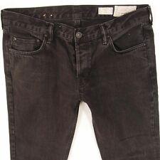 Mens All Saints IGGY Slim Straight Grey Black Jeans W36 L32