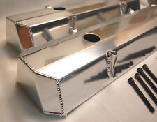 Spectre Fabricated Sheetmetal Aluminum SBC Small Chevy Valve Covers Stock Height