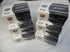 12 DOZEN NEW WILSON STAFF ZIP GOLF BALLS (144 BALLS) 12 DZN WHITE ZIP