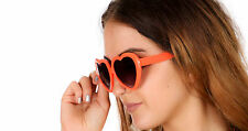 neon orange heart shaped 80s vintage sunglasses