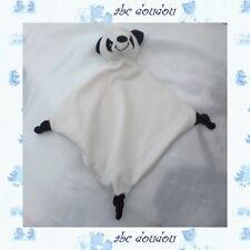 Doudou Peluche Plat Panda Blanc Et Noir Crédit Agricole