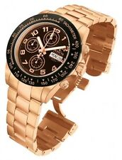 New Mens Invicta 10939 Speedway Automatic Chronograph Brown Dial Watch
