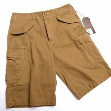 NWT HUDSON and BARROW  CARGO SHORTS Mens Size 30 Brown