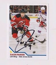 08/09 Zach Parise Devils Sports Illustrated For Kids Autographed Hockey Card