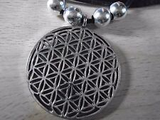 925 plated Silver necklace Flower of Life Pendant Reki Sacred Geometry