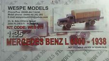 1/35 Wespe models mercedes benz l6500-1938