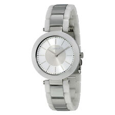 DKNY Stanhope Silver-Tone Sunray Dial Ceramic Ladies Watch NY2288