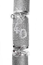 *** handmade Luccicante Argento 40th riempire il tuo Compleanno Cracker ***