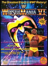 WRESTLEMANIA VI / 6__Original 1990 Trade Print AD / video promo__HULK HOGAN__WWF
