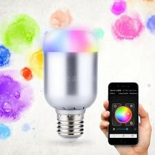 E27 6W 550LM Smart Bluetooth RGBW LED Bulb Light Lamp Brightness Adjustable V8J4