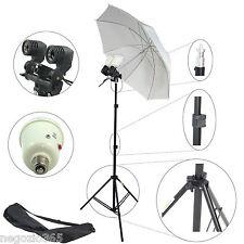Kit Professionale Studio Foto Stativo Ombrello Portalampada Doppio 2 Flash 90W