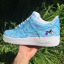 Custom SIZE 10.5 Nike Air Force 1 DIRTY SPRITE PURPLE REIGN BAPE JORDAN OVO XI