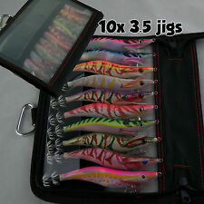 10X Squid Jig 3.5 Multi Egi Color Uv Tackle Bag Selected Japanese Fishermen